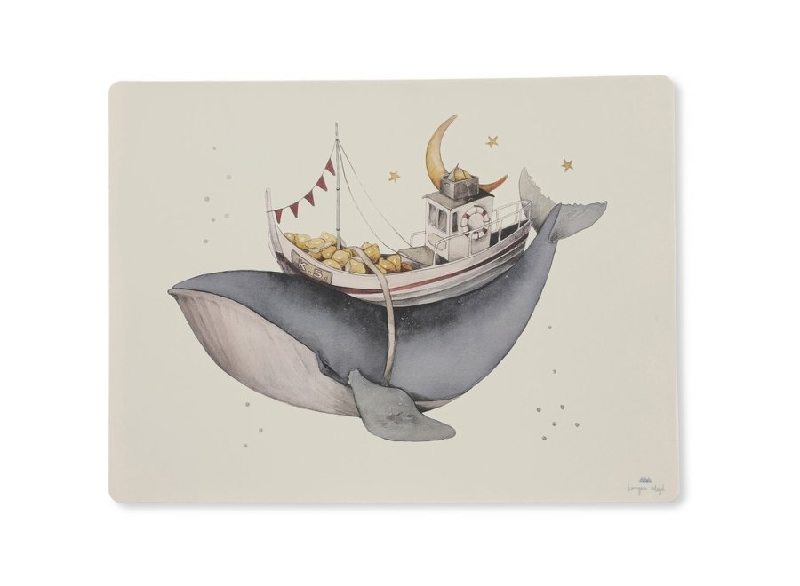 Konges Slojd - Placemat Silicone - Nature Whale