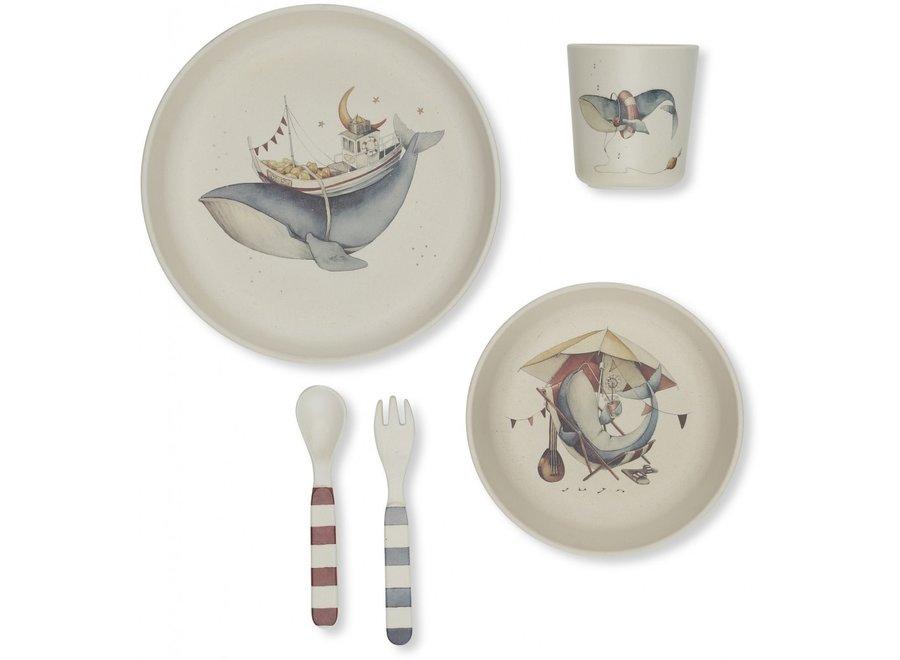 Konges Slojd - Whale Dinner Set