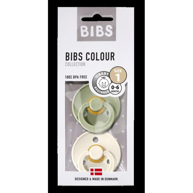 Bibs - Fopspeen Blister Sage/Ivory T1 0-6 maanden