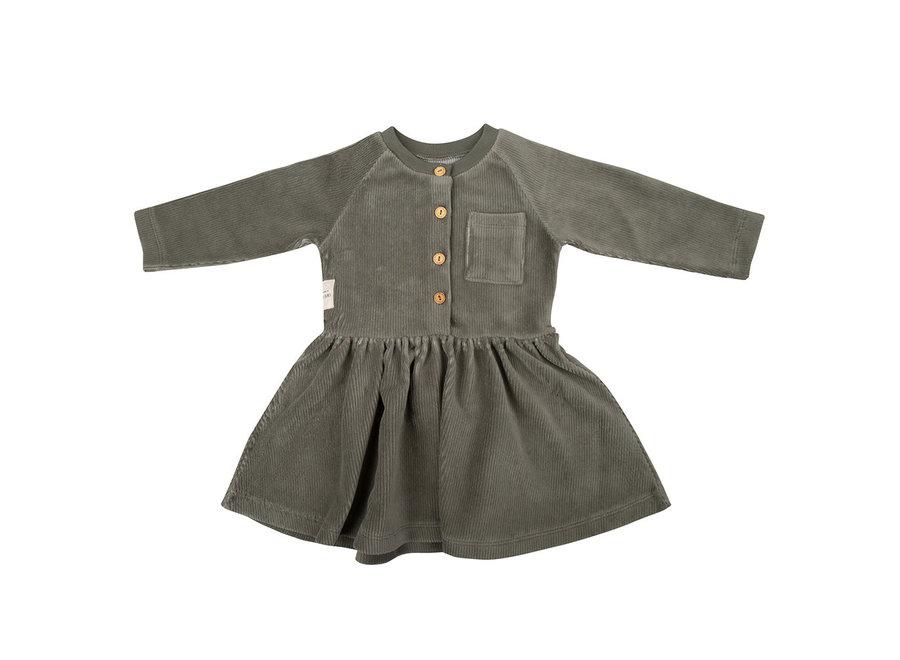 Little Indians - Dress - Corduroy Green
