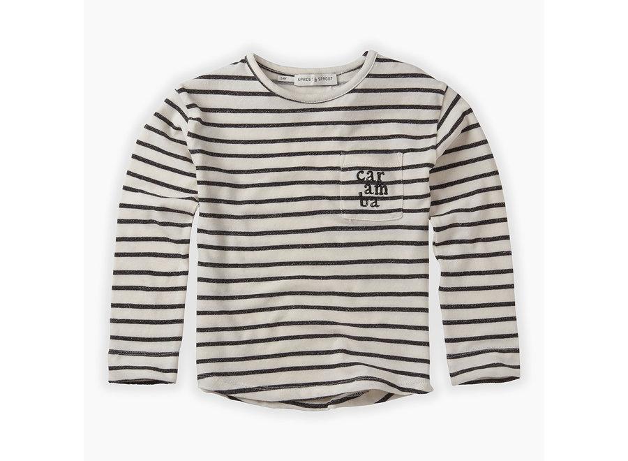 Geboortelijst Serafine -  Sproet & Sprout - T-shirt L/S Stripe 3M