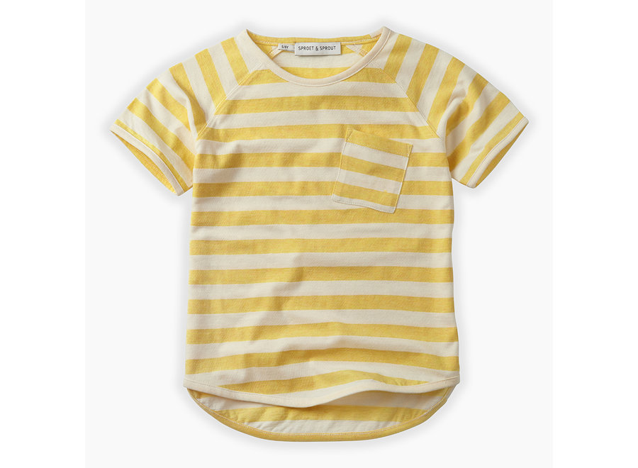 Geboortelijst Serafine - Sproet & Sprout - T-shirt Raglan Stripe 18/24 maand