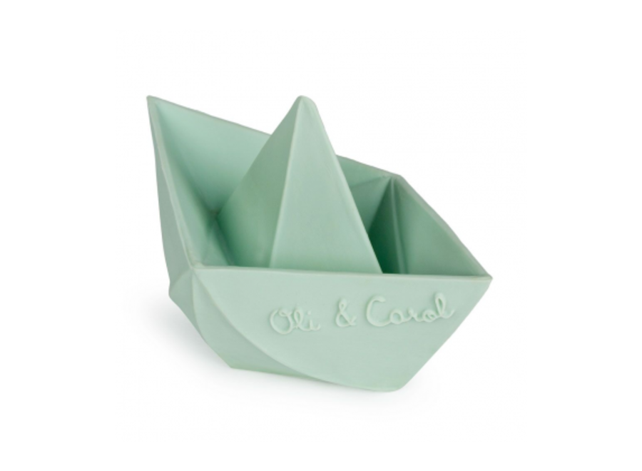 Copy of Oli & Carol - Bad speeltje Boot Origami  'Mint'