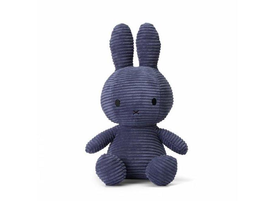 Nijntje - Miffy Sitting Corduroy Blue - 33cm