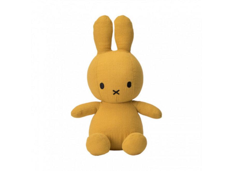 Nijntje - Miffy Sitting Mousseline Yellow - 23cm