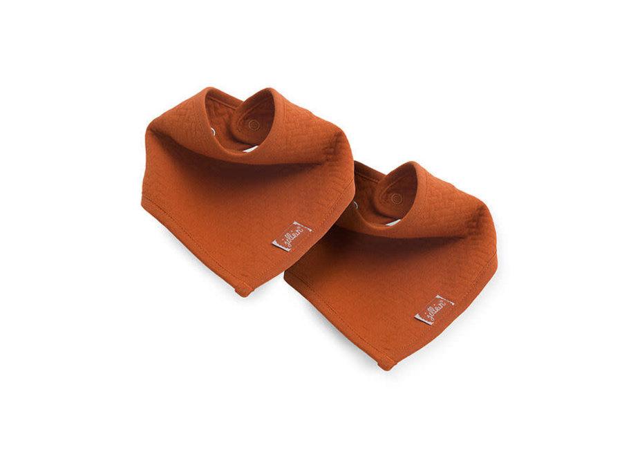 Geboortelijst Isabelle - Jollein - Slab bandana Brick velvet rust (2pack)