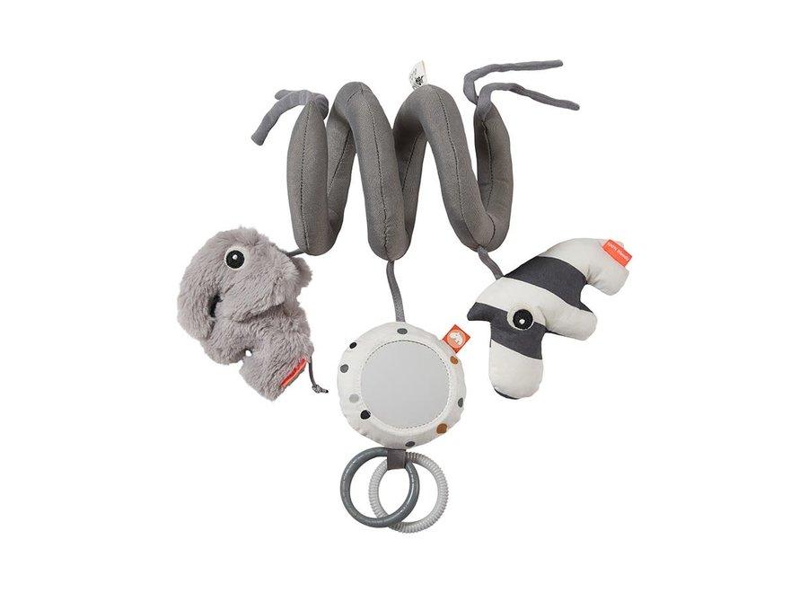 Geboortelijst Isabelle - Done By Deer - Pram Toy - Deer Friends Grey