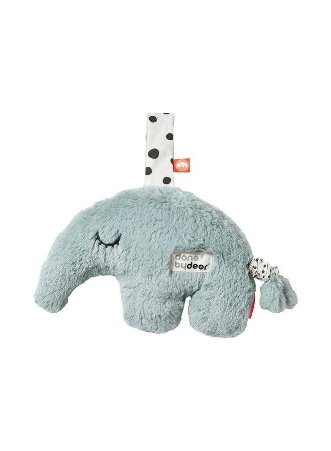 Geboortelijst Isabelle - Done By Deer - Musical Cuddle toy - Antee Blue
