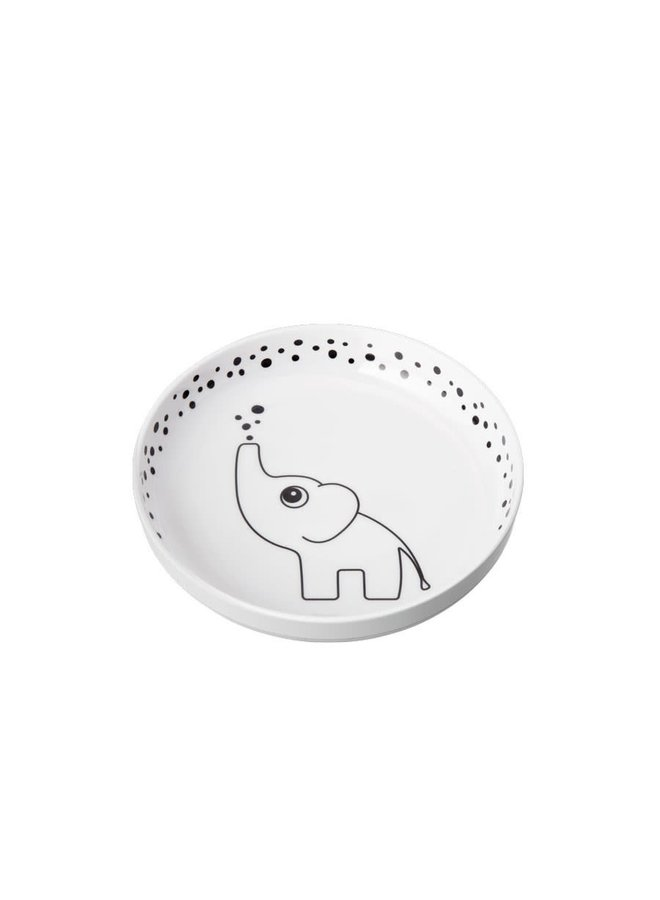 Done By Deer - Dots Yummy Plus Plate Grey