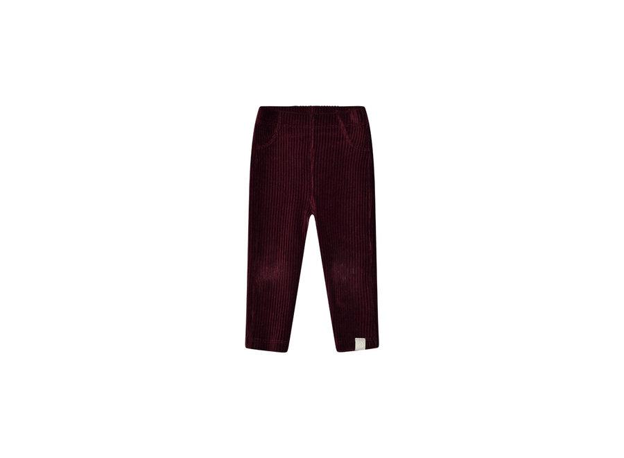 I Dig Denim - Hazel Rib Pants - Bordeaux
