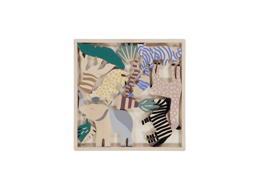 Ferm Living - Safari Animal Box - Set of 12