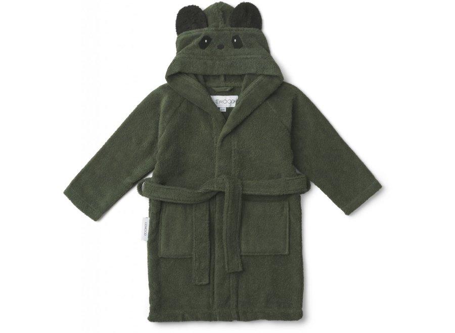 Liewood - Lily bathrobe - Panda Hunter Green