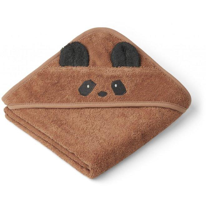 Liewood - Albert hooded towel - Panda Tuscany Rose