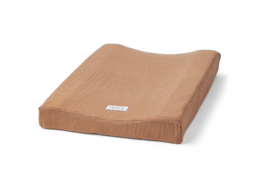 Cliff muslin changing mat cover - Terracotta