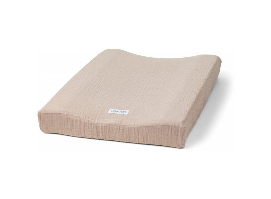 Copy of Cliff muslin changing mat cover - Terracotta