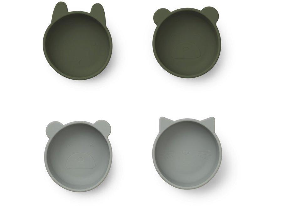 Liewood - Iggy Bowls - Hunter green mix