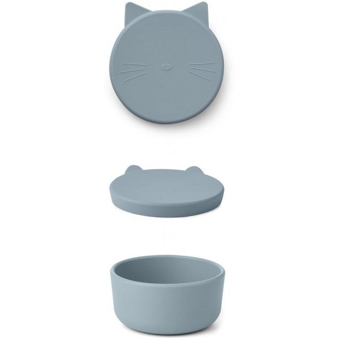 Liewood - Cornelius Snack Box - Cat Sea Blue
