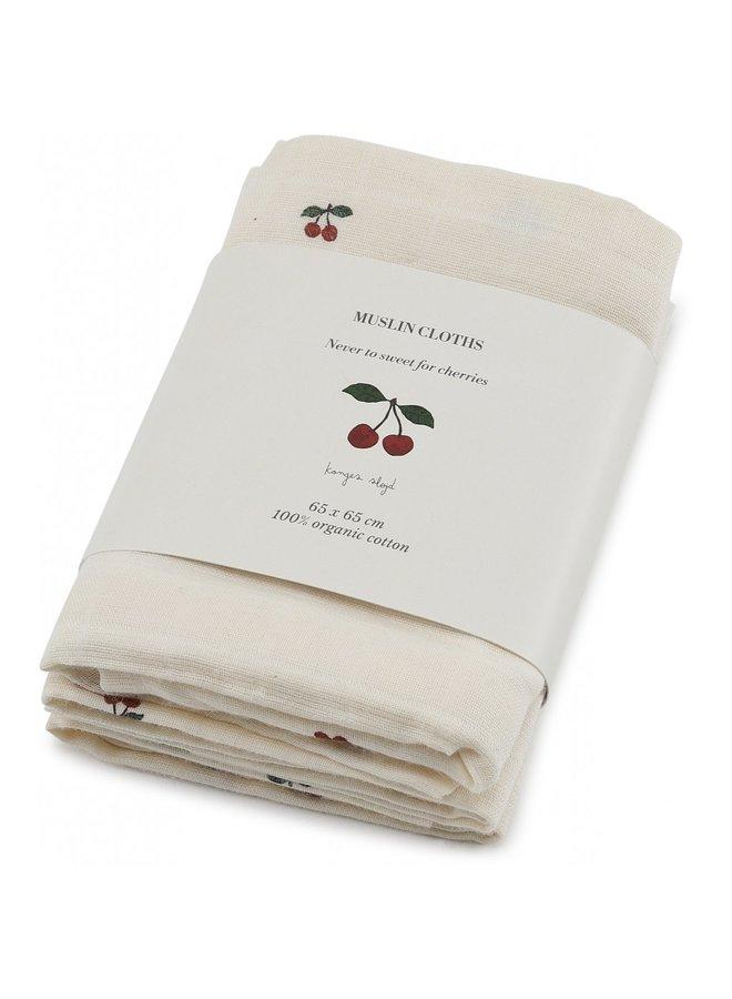 Konges Slojd - Muslin Cloth Cherry (3 pack)