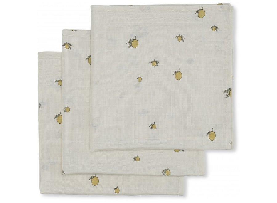 Konges Slojd - Muslin Cloth Lemon (3 pack)