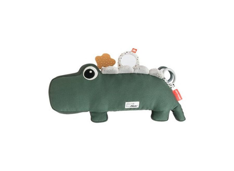 Geboortelijst Jantien - Done By Deer - Tummy Time activity toy - Croco green