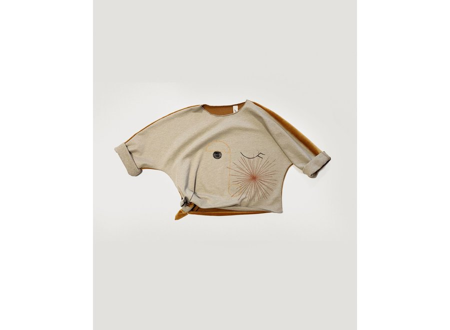 BONNIE & THE GANG - AYA knotted sweater - Butterscotch