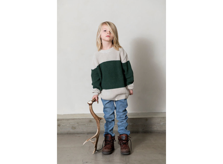I Dig Denim - Bo Block Knitted Sweater - 1,5 tot 7 jaar