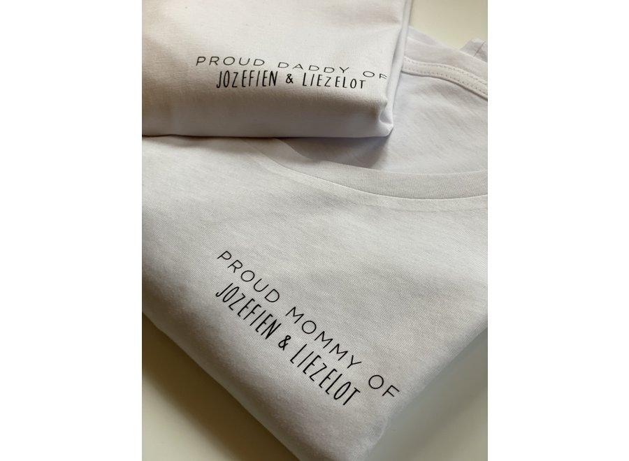 T-shirt - Black Heater / Cranberry