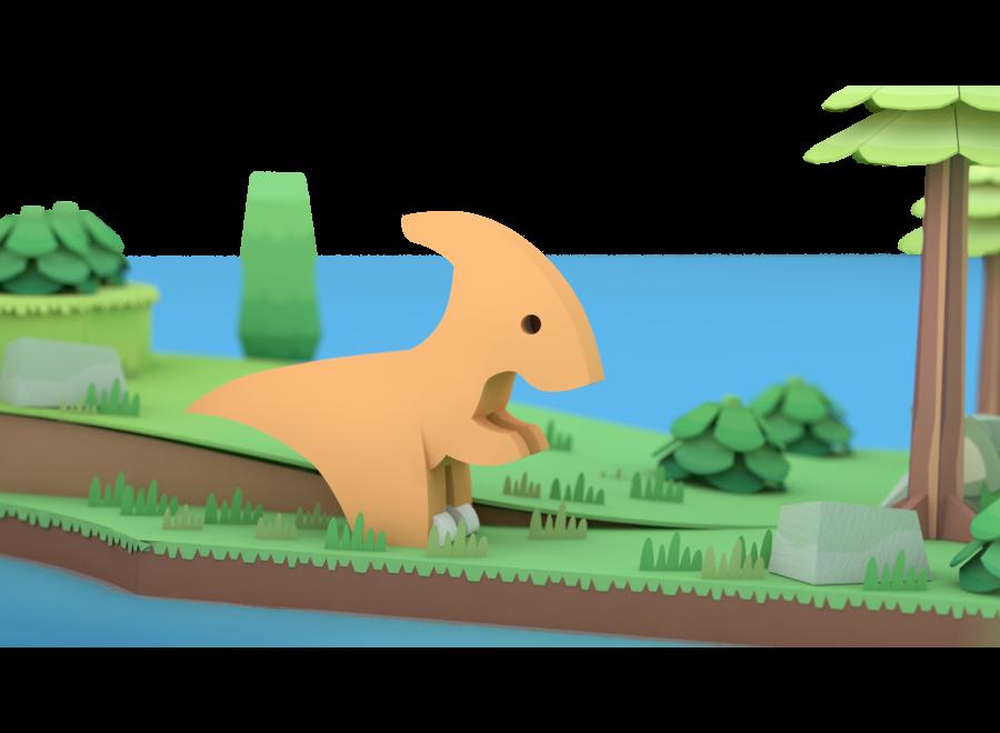 Half Dino Parasaurolophu