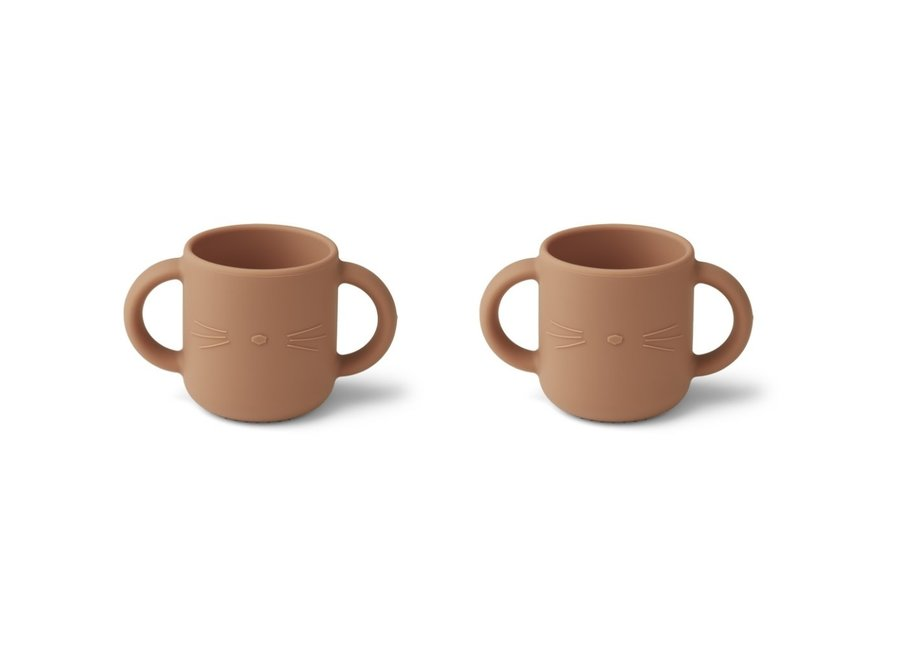 Liewood - Gene Cup - Cat Tuscany Rose (set of 2)