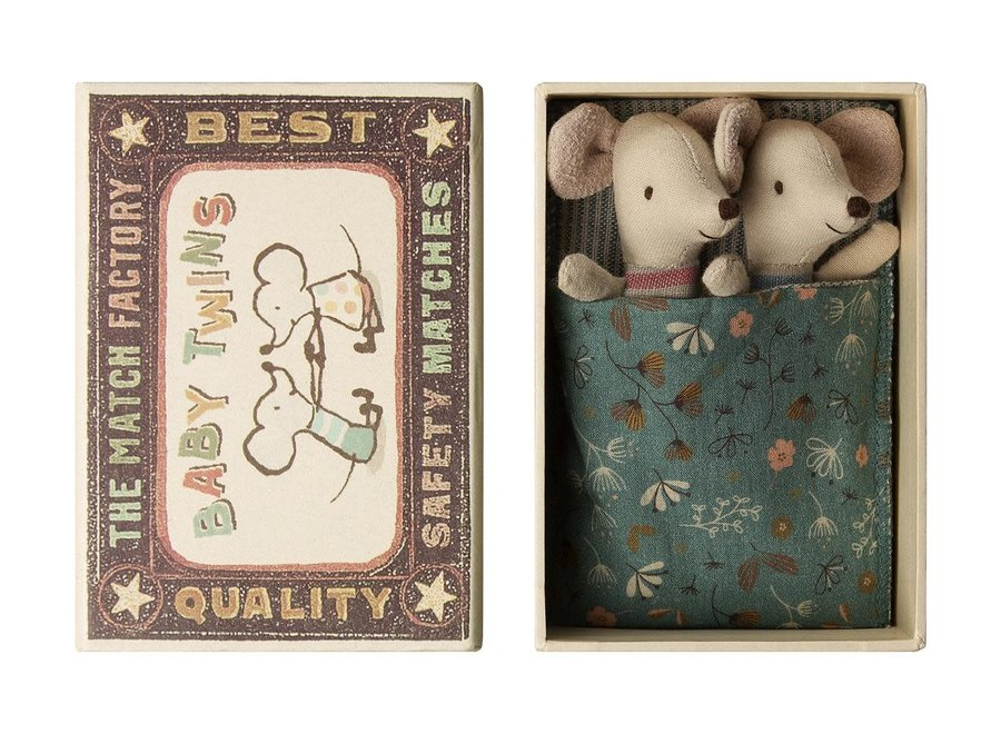 Maileg - Baby mice - Twins in box