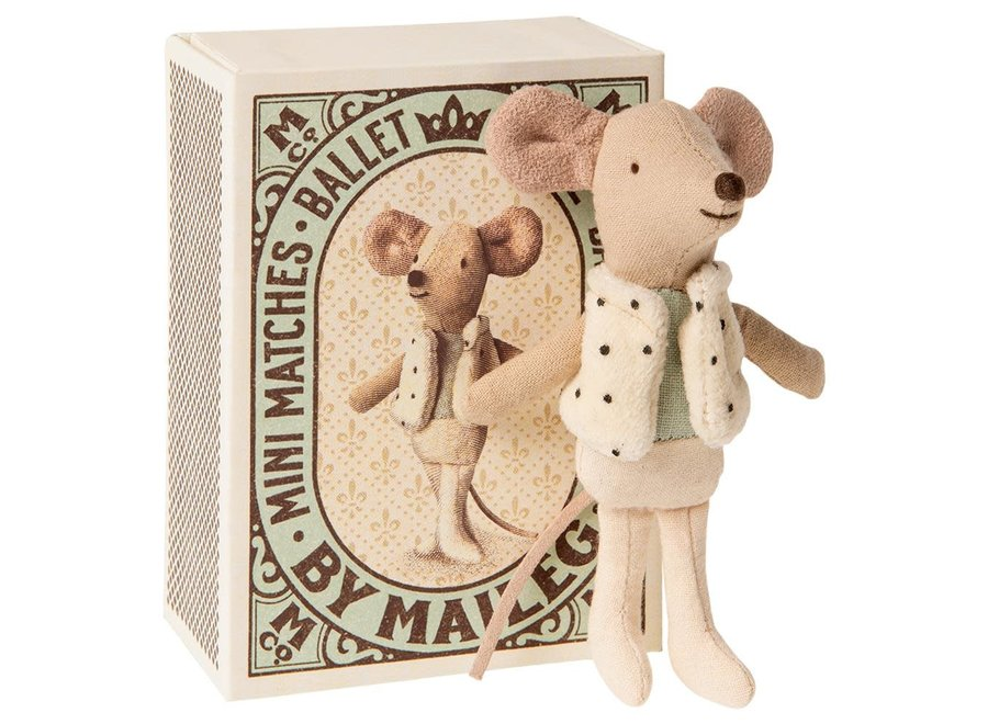 Maileg - Dancer in matchbox - Little Brother Mouse