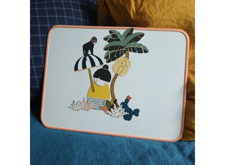 Ma Cabane à Rêves - Schoolbord ECOLE - Coral