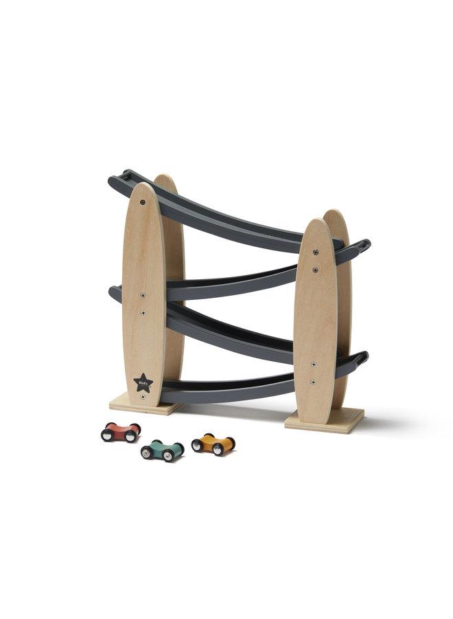Kids Concept - Racebaan natuur/grijs Aiden