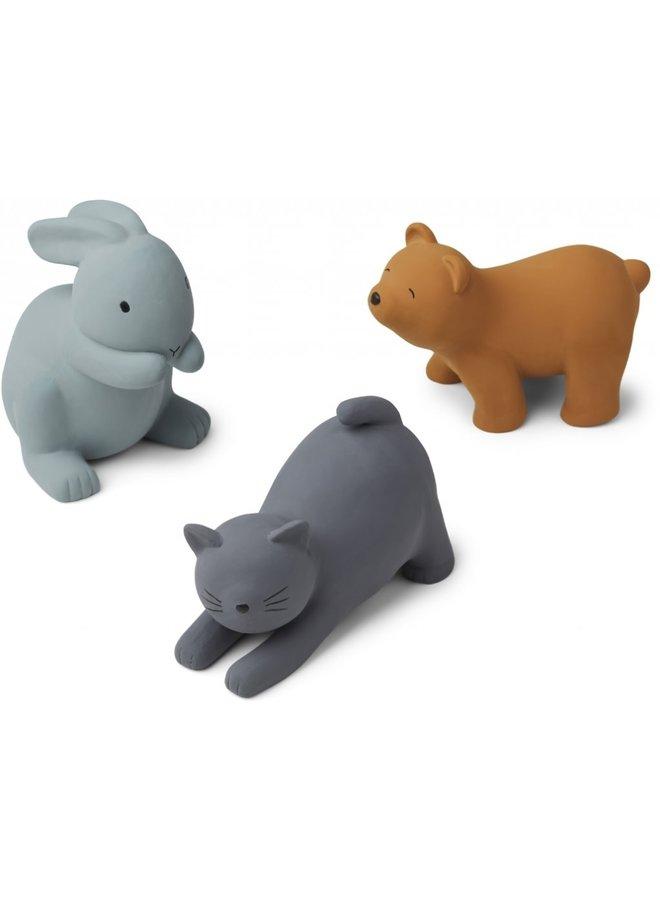 Liewood - David toys 3-pack - Blue Multi Mix