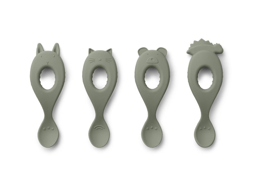 Geboortelijst Cynthia - Liewood - Livia Spoon Silicone - Faune Green