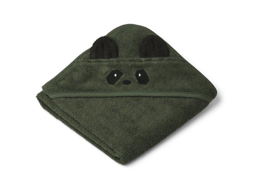 Copy of Liewood - Albert hooded towel - Panda Hunter Green