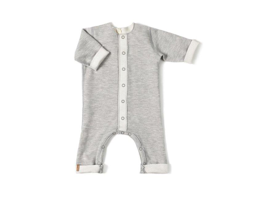Geboortelijst Cynthia - Nixnut - Double Onesie - Grey  56 (1 maand)