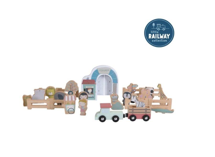 Little Dutch - Dierentuin FSC - Railway set