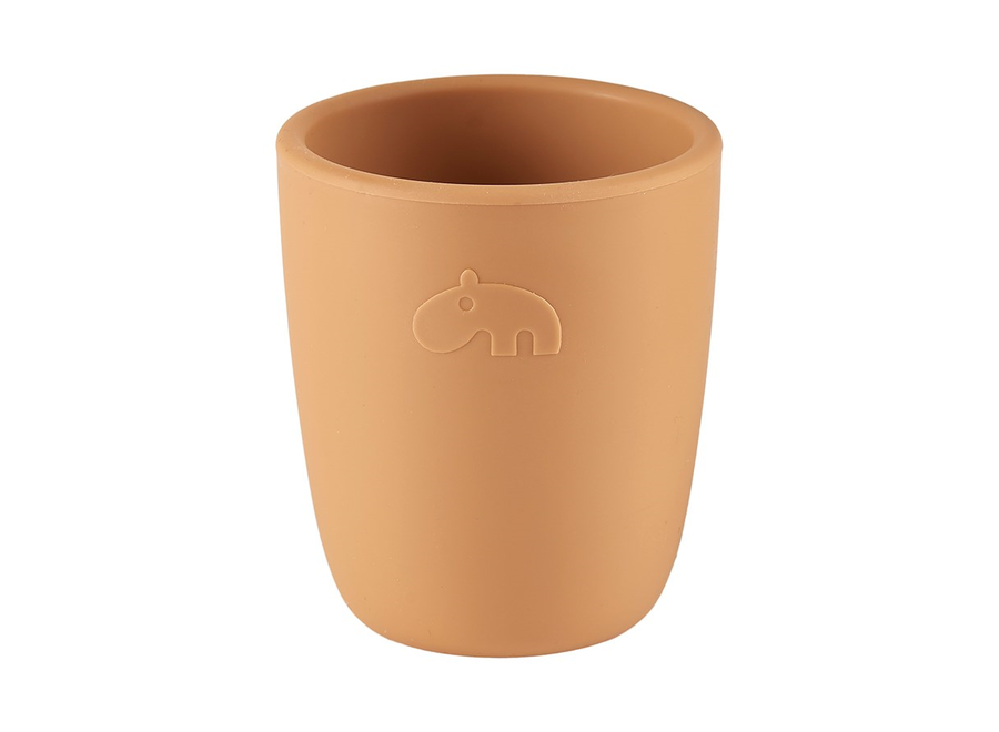 Geboortelijst Sofie - Done By Deer - Silicone Mini Mug - Mustard