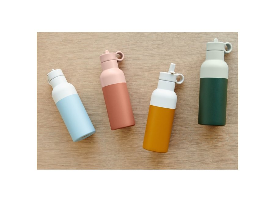 Liewood - Neo Water bottle - Hunter green / Dove blue mix