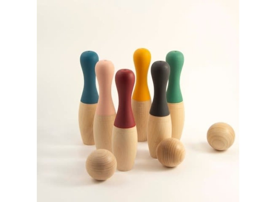 Me & Mine - Bowling kegels - Beech wood pins - Limited edition