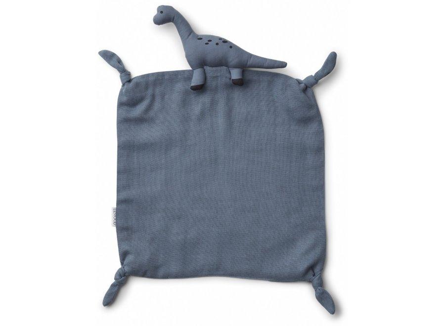 Liewood - Agnete cuddle cloth - Dino blue wave