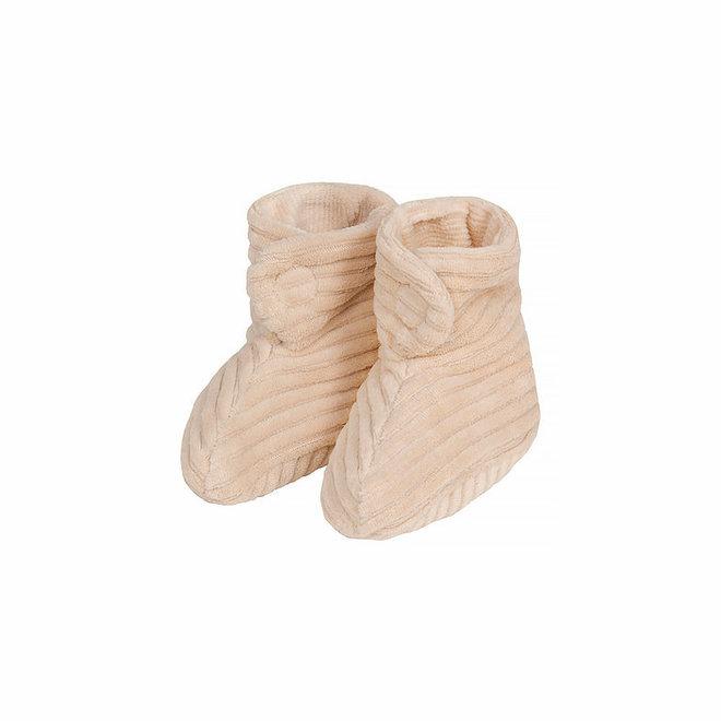 Nanami - Shoe Rib velvet natural