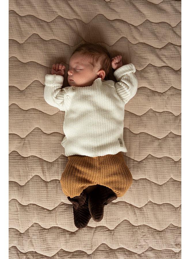Nanami - Baby stepped plaid 100 x 75 Naturel