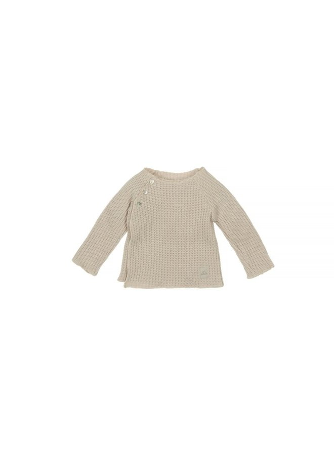 Nanami - Baby knit rib top - Naturel