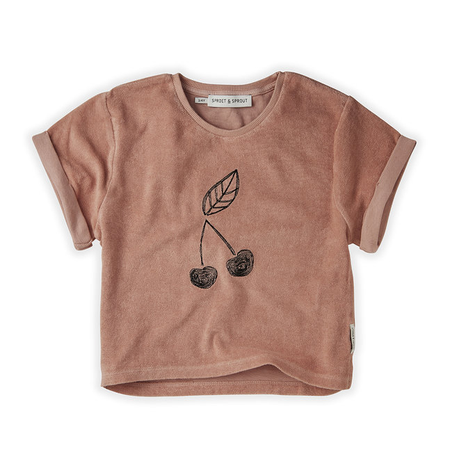 Sproet & Sprout - Sweat T-shirt Terry Cherry
