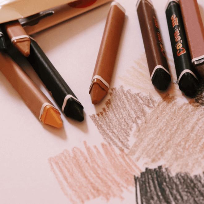 Colour me skin - Crayons (set van 12 wasco's)
