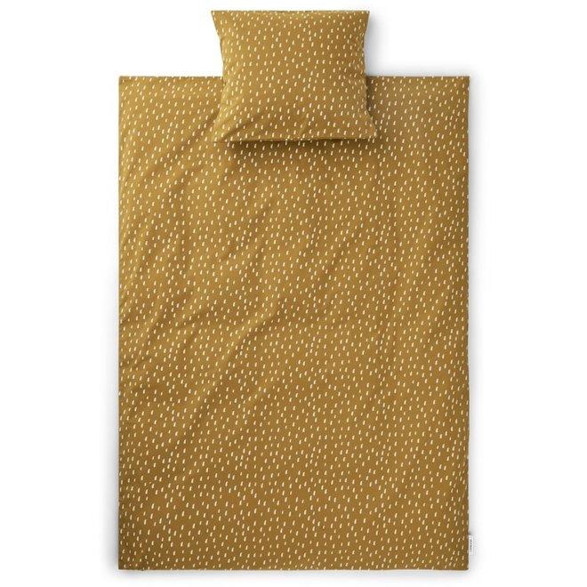 Liewood - Bedding print Graphic stroke /  Golden caramel