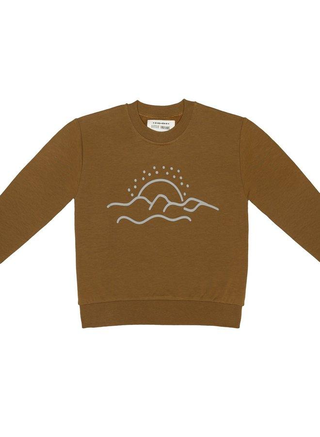 Little Indians - Boxy sweater desert sunset vintage olive