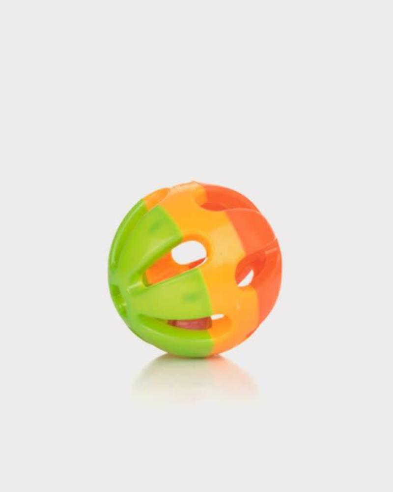 Plastic speelbal met bel